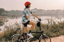 outfit bersepeda dengan bike short
